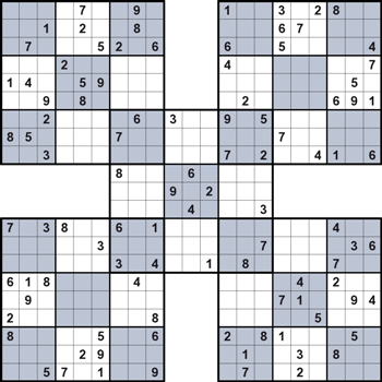 Samurai Sudoku Puzzlephil